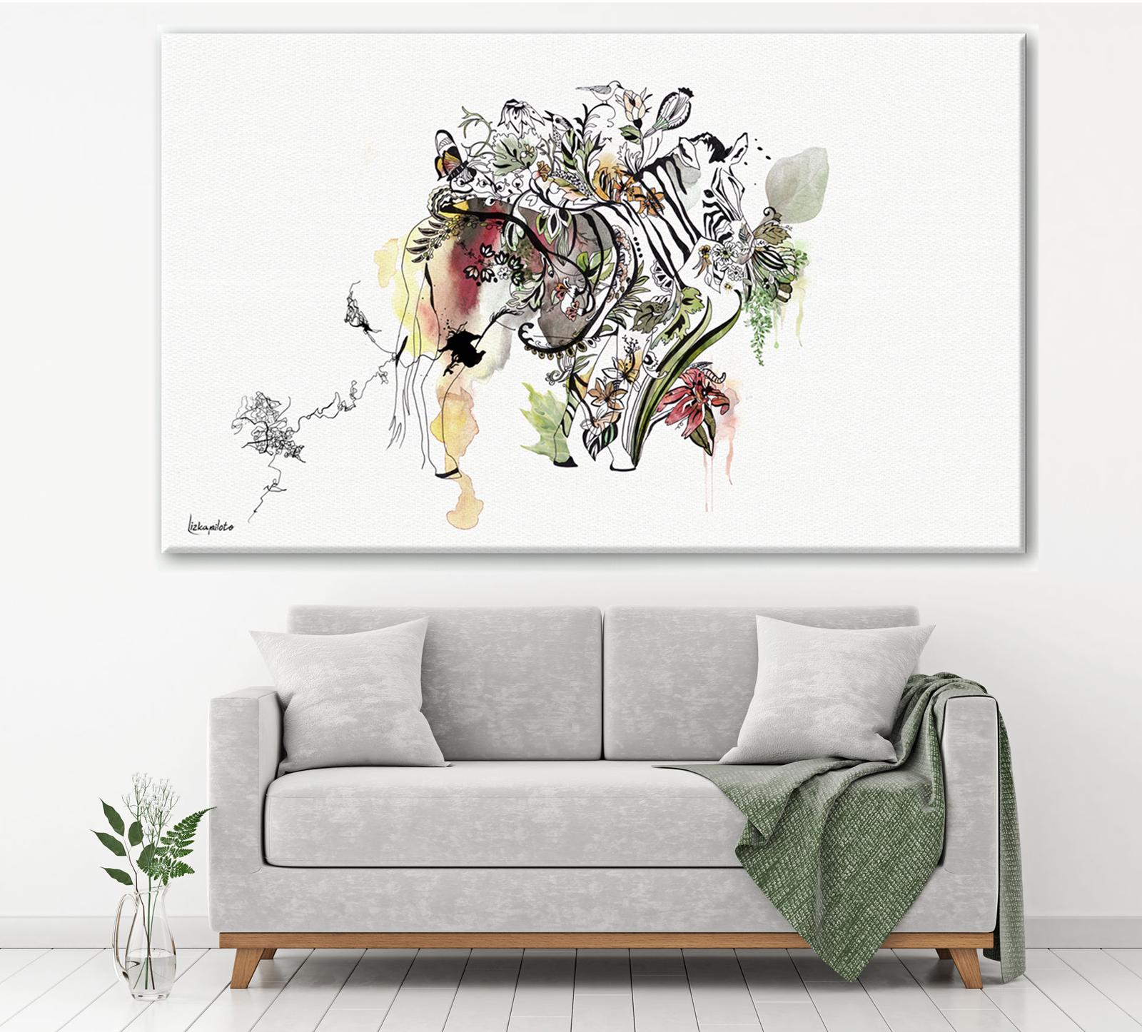 ציור של זברה