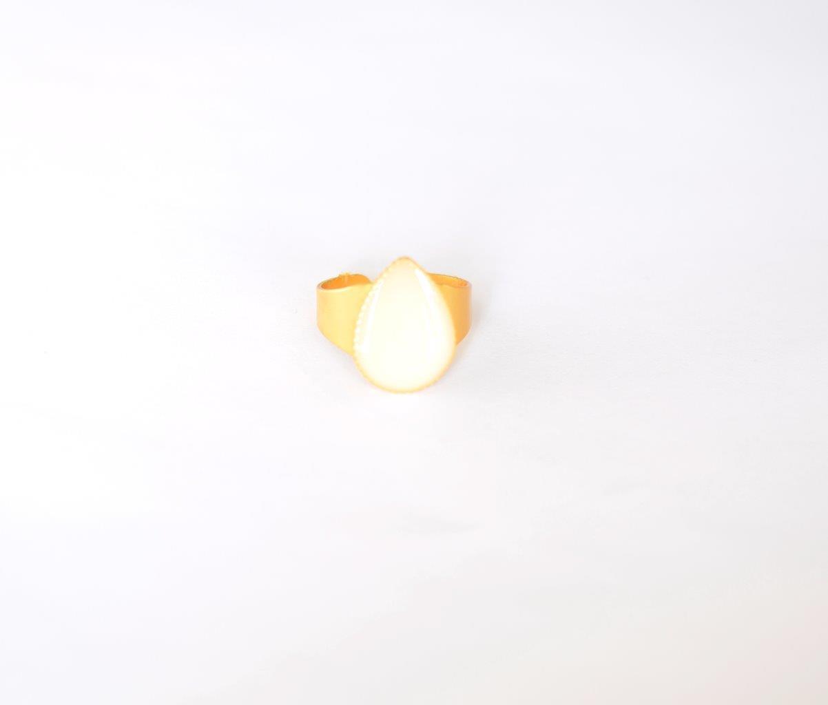 טבעת טיפה זהב - שביל החלב-תכשיטים למניקות