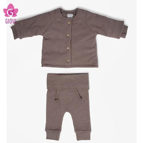 קרדיגן ומכנסיים(אפור כהה)