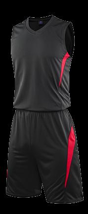 תלבושת כדורסל בעיצוב אישי Black דגם #6009