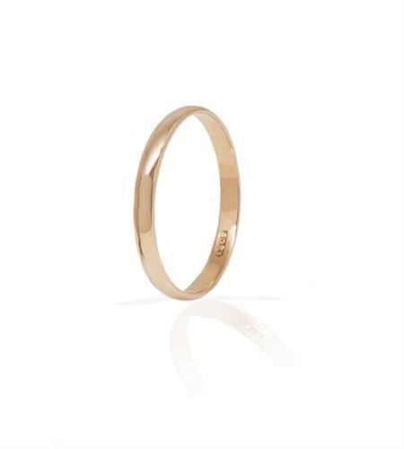 טבעת נישואין לגבר זהב ורוד /אדום מעוגלת