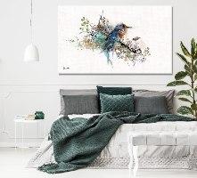 ציור על קנבס בסלון מודרני