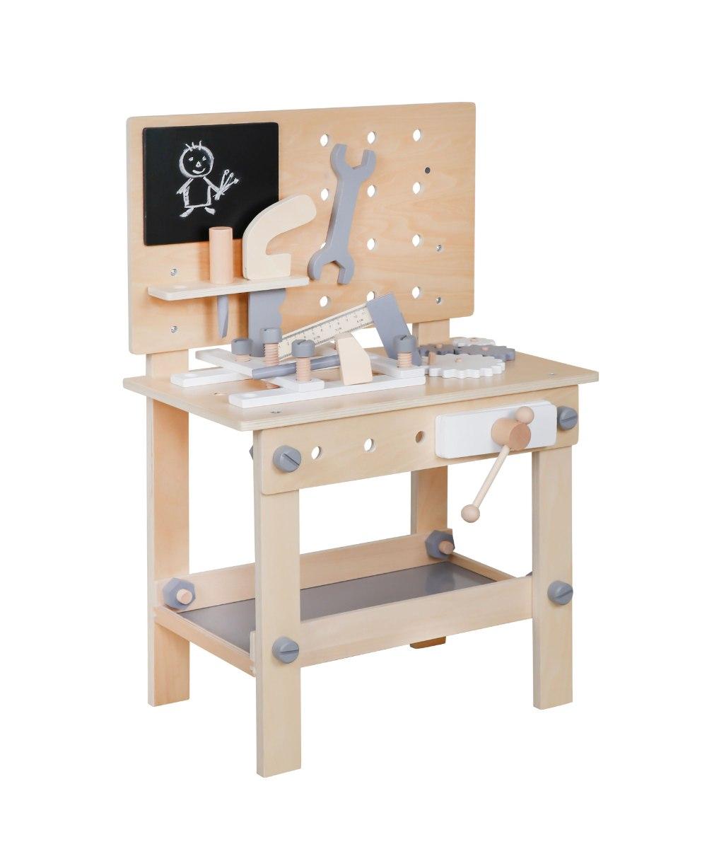 שולחן כלי עבודה מעץ לילדים