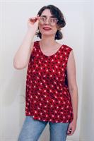 חולצת בוקסי אדום אייל