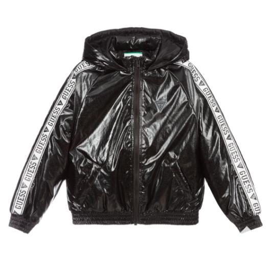 מעיל פוך שחור GUESS בנות - 7-16