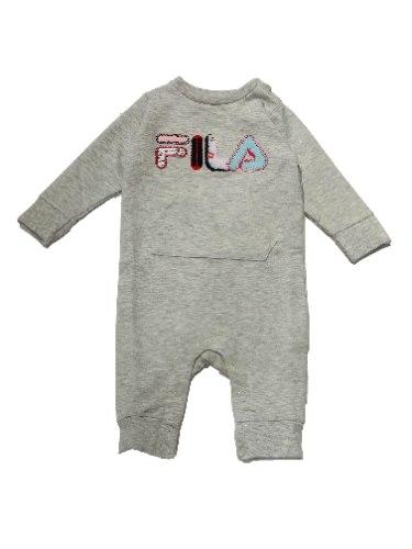 אוברול תינוקות FILA אפור לוגו רקום 0-12