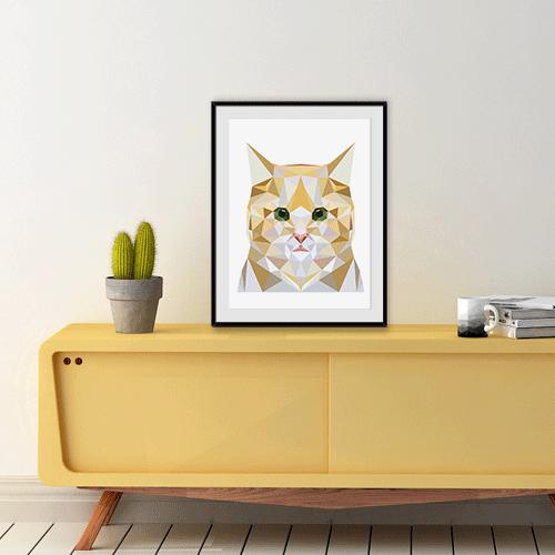 הדפס חתול ג'ינג'י