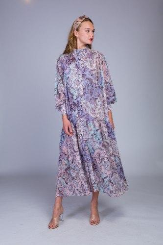 שמלת שיפון ארוכה נמסיס