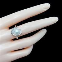 טבעת מכסף משובצת פנינה לבנה וזרקונים RG1486 | תכשיטי כסף 925 | טבעות כסף