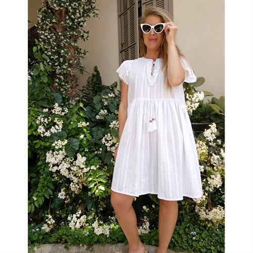 שמלת היידי לבנה