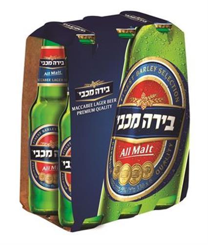 שישיית בירה מכבי 7.9% 33 מ״ל