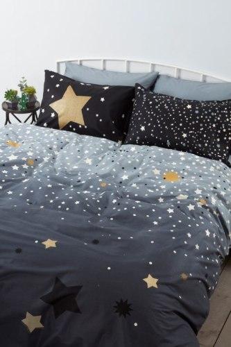 סט מלא יחיד או מיטה וחצי דגם  זוהר בחושך