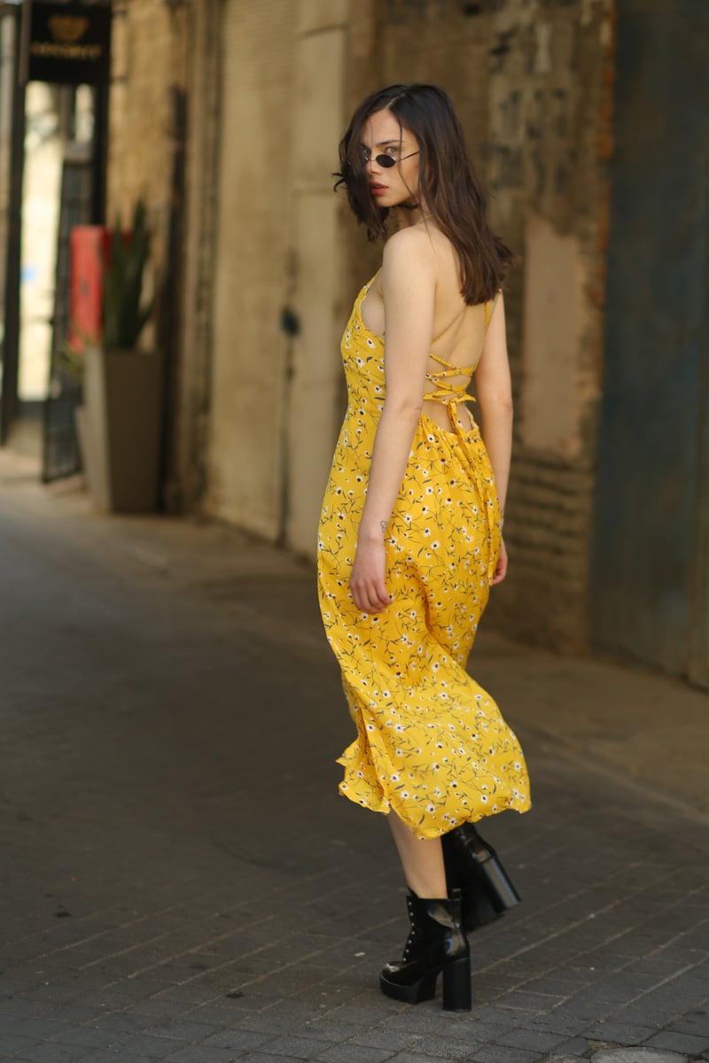 שמלת מקסי שסעים מדונה