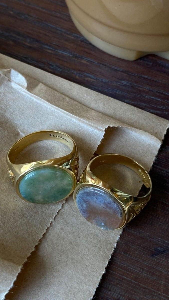 טבעת X חותם זהב
