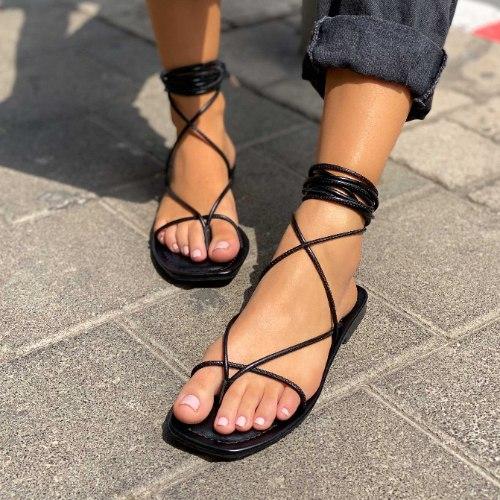 סנדלי קשירות לנשים - תל אביב