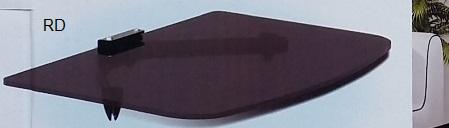 מדף זכוכית לממיר/DVD שחור Lexus ARM-3000