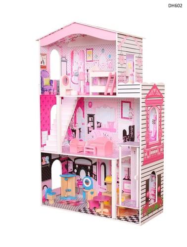 בית בובות מעץ דגם DH602