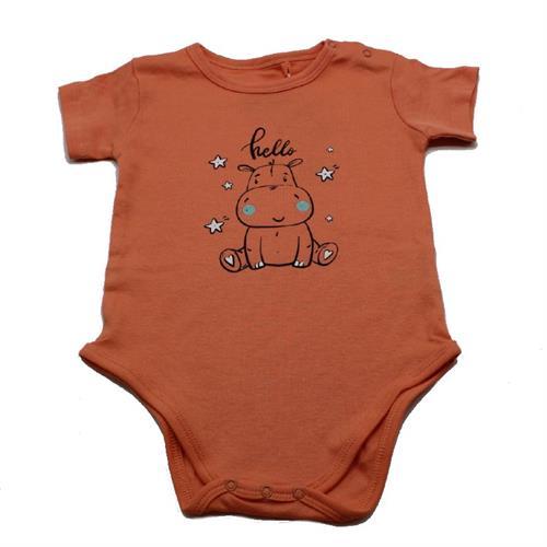 בגד גוף תינוקות היפופוטם כתום