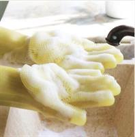 זוג כפפות מסיליקון לשטיפה נוחה של הכלים