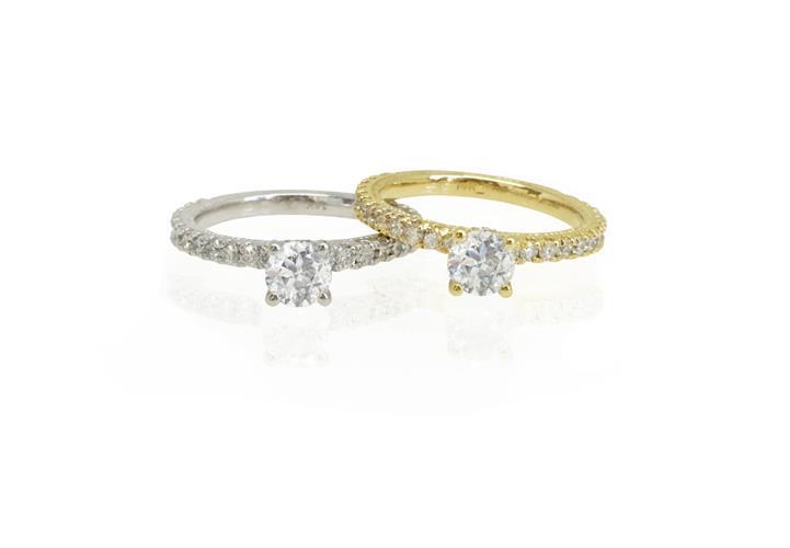 טבעת אירוסין │ טבעות אירוסין │ טבעת יהלומים יוקרתית 0.87 קראט
