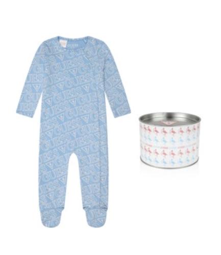 אוברול תינוקות תכלת GUESS בנים  - 0-6 חודשים