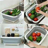 הקרש חיתוך החדשני ביותר עם כלי אחסון לשטיפת פירות וירקות