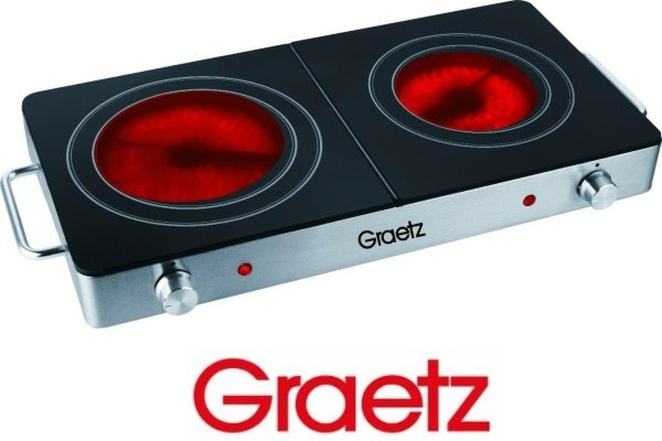Graetz פלטת בישול קרמית כפולה דגם: GR295