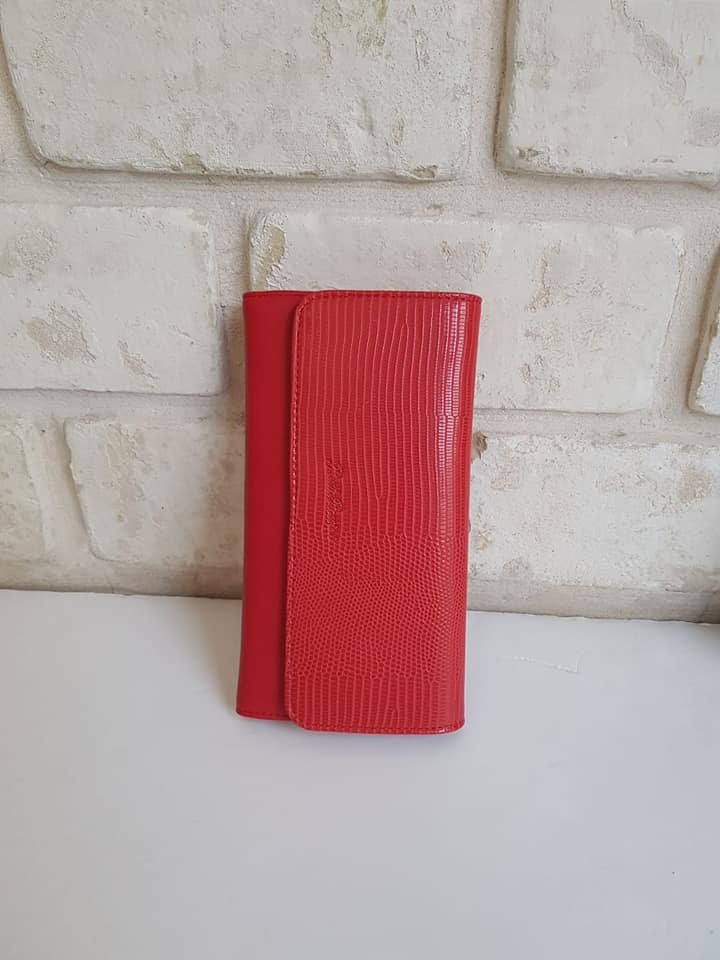 ארנק דמוי עור בינוני אדום 4060