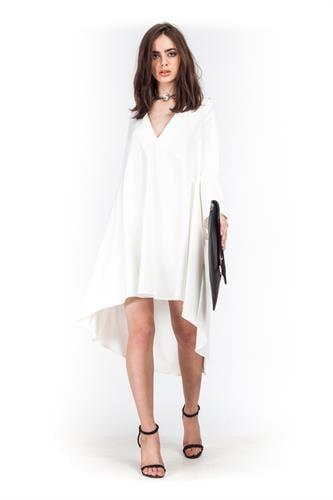 שמלה סלסט לבנה