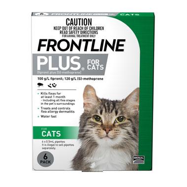 פרונטליין פלוס 3 אמפולות לחתולים