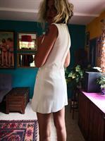 שמלת מיני לבנה משנות ה-60 מידה S/M