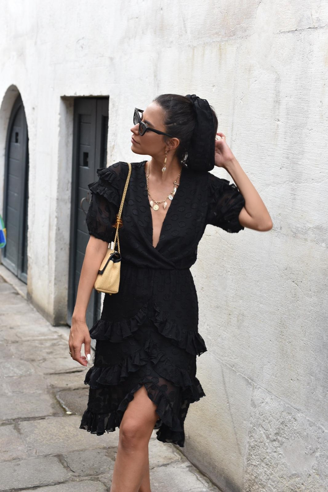 שמלת איזבלה - שחורה