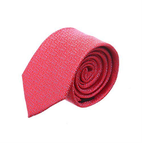 עניבה נקודות קטנות על רקע אדום