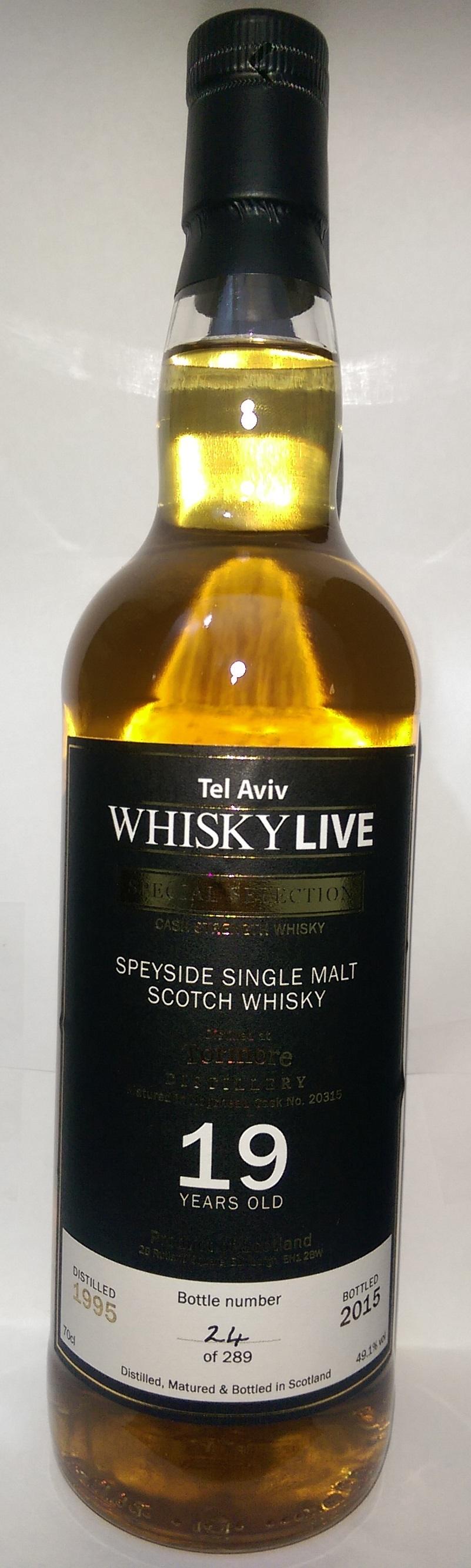 Whisky Live Tel-Aviv Tormore 19 y.o