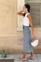 חצאית מעטפת פרח תכלת