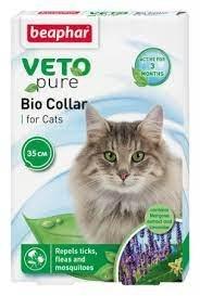 קולר טבעי לחתולים נגד פרעושים וקרציות ביהפר - BEAPHAR