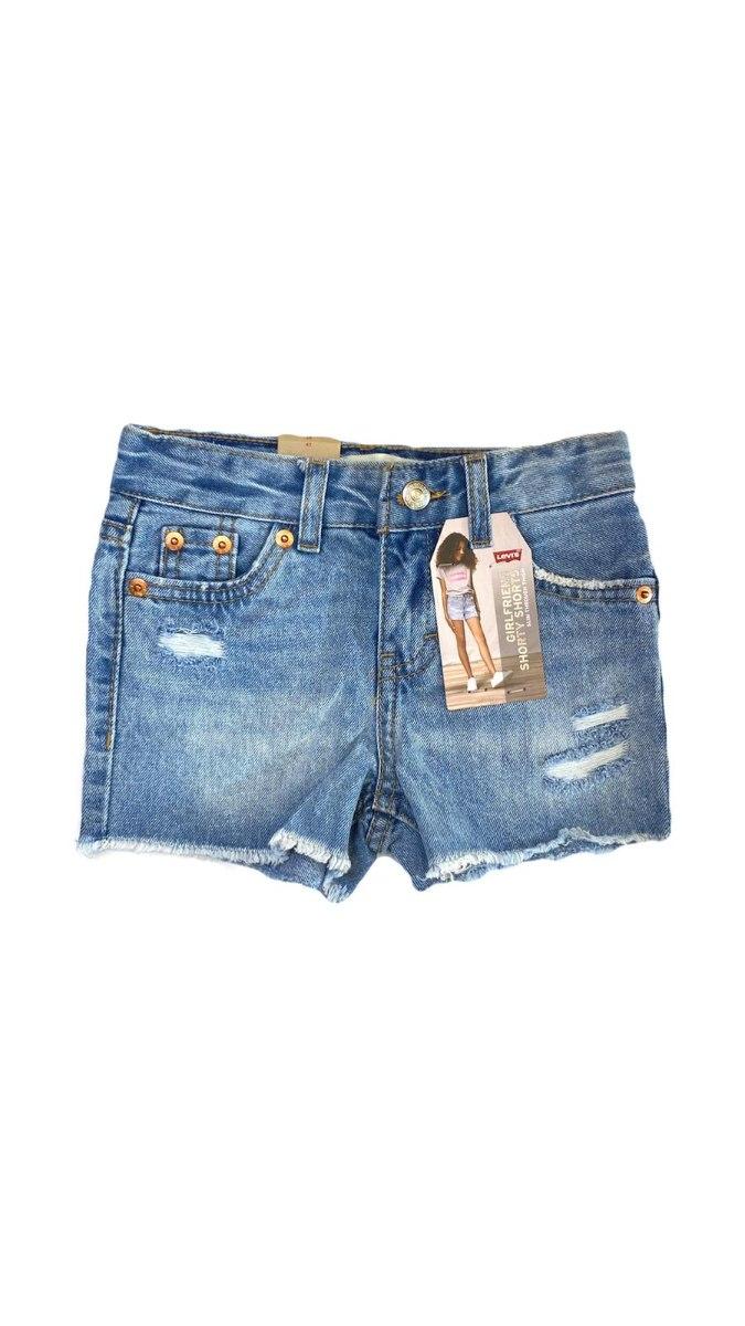 שורט ג'ינס כחול LEVIS בנות (2-16)