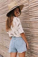 ג'ינס קצר מיכאלנג'לו קרעים