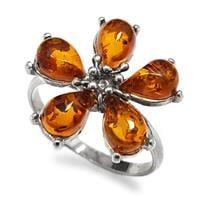 טבעת מכסף בשיבוץ ענבר RG5920 | תכשיטי כסף 925 | טבעות כסף