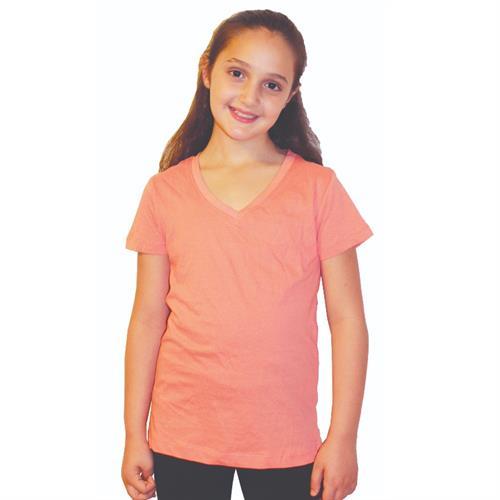 חולצת בית ספר בנות וי צבעוני