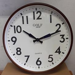 """שעון קיר שקט גדול 33 ס""""מ גולף GOLF"""