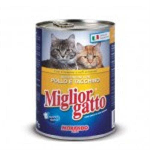 שימור לחתול מיגליאור 405 גרם בטעם עוף והודו