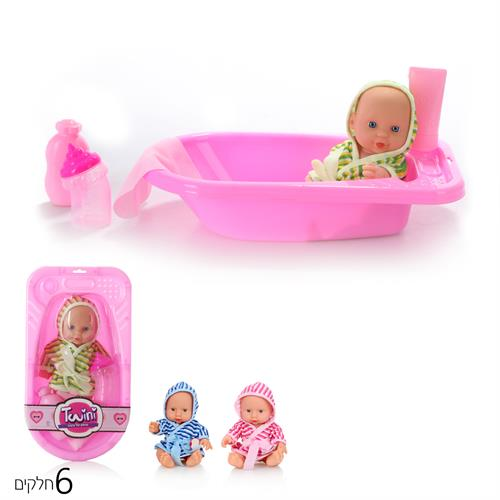 בובת תינוק עם חלוק באמבטיה
