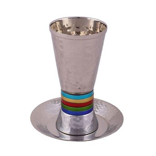 כוס קידוש - טבעות רחבות - צבעוני