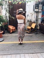 חצאית ג'ינה פייזלי ורוד