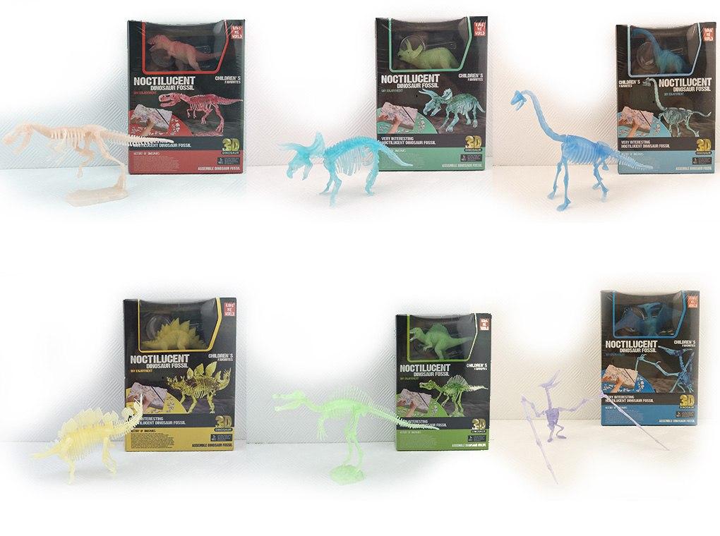 ערכת דינוזאורים קטנה זוהרת בחושך