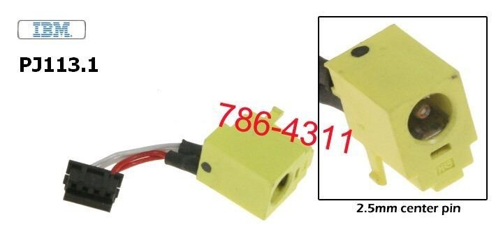 PJ113.1 - IBM Thinkpad T20, T21, T22, T23 dc jack with cable שקע טעינה למחשב נייד