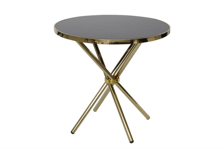 שולחן ADAGIO מגיע בצבע: זהב מידות: 80*76