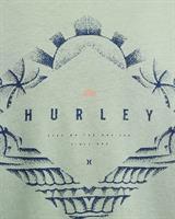 HURLEY  FRINGE  T-SHIRT- SILVER PINE