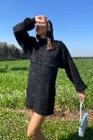 סט נטע עליונית קרופ + שמלה